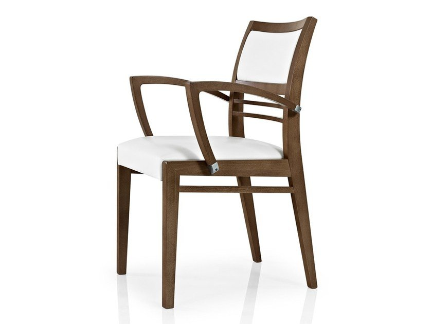 Open back chair with armrests CASSIS | Restaurant chair by JMS