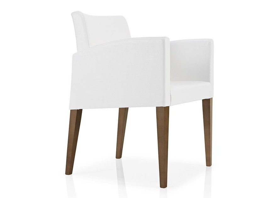 Fabric chair with armrests CASSIS | Restaurant chair by JMS