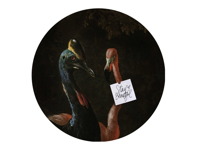 Motif wall sticker CASSOWARY AND FRIEND by Groovy Magnets