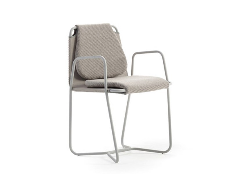 Fabric chair CASTA | Chair with armrests by Sancal
