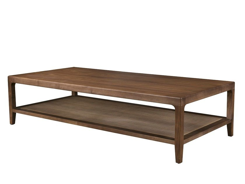 Rectangular coffee table with storage space CASTELEJO by Branco sobre Branco
