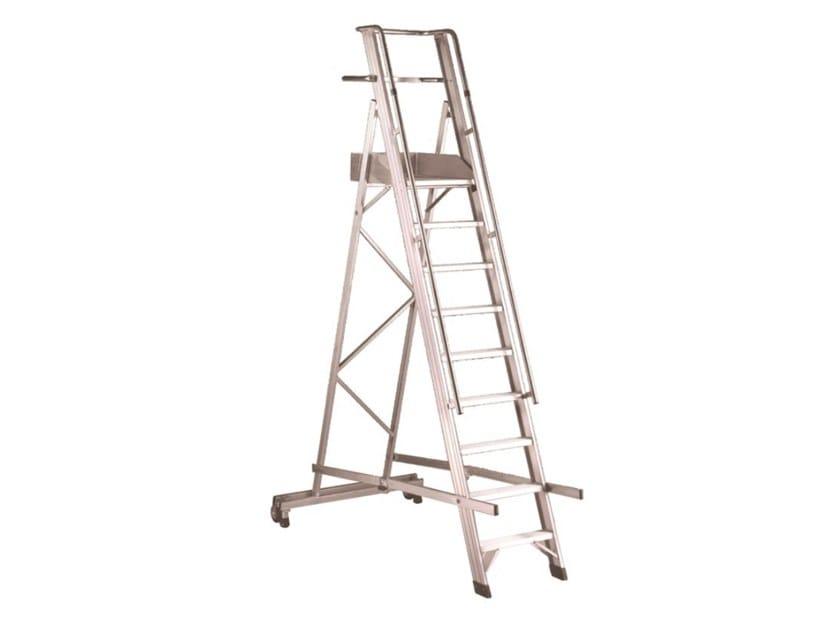 Aluminium heavy duty ladder CASTELLANA by SVELT