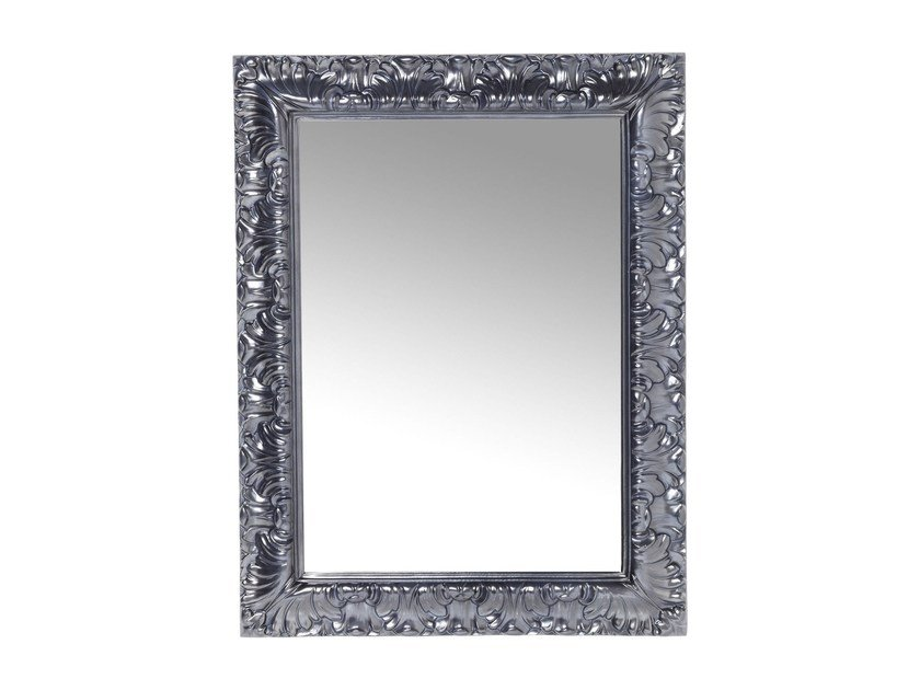 Rectangular wall-mounted framed mirror CASTELLO CHROME by KARE-DESIGN