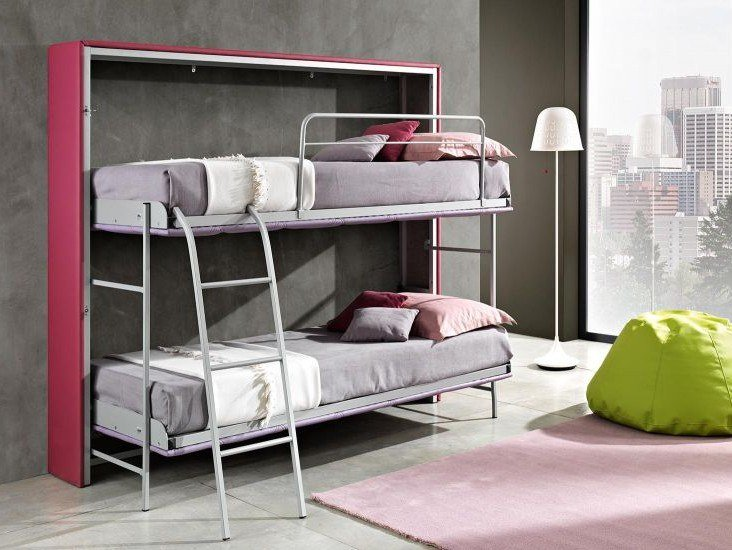 Pull-down bunk bed CASTELLO by Lamantin