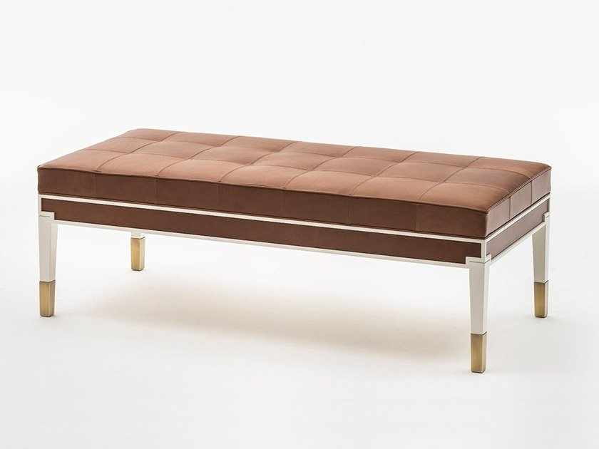 Tufted leather bench CASTELLO | Bench by OAK