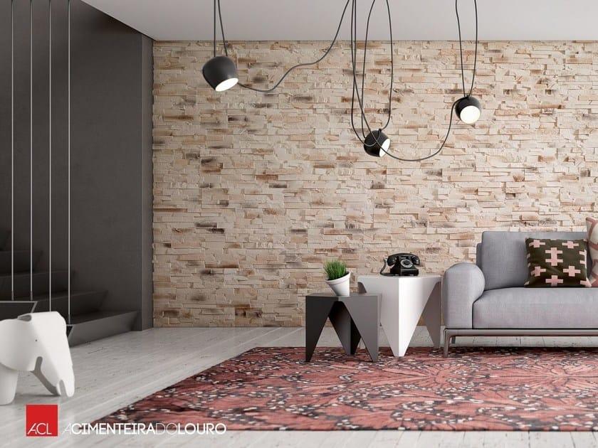 Revestimiento de pared de hormign imitacin piedra para interiores