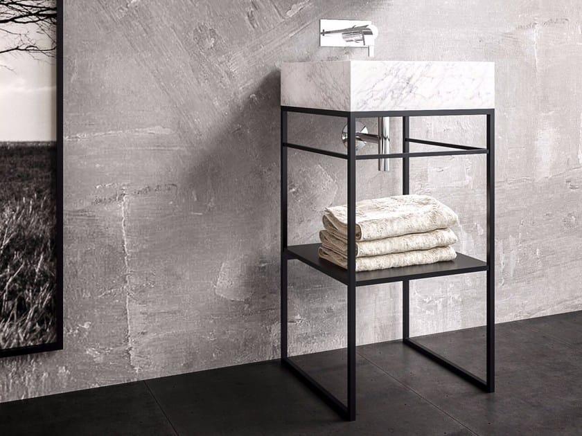 Single steel vanity unit CASTLE by Filodesign