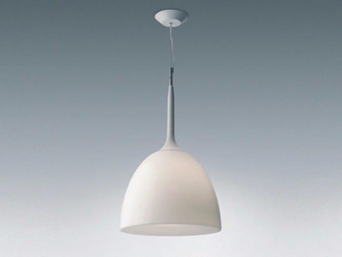 Direct light thermoplastic resin pendant lamp CASTORE CALICE by Artemide