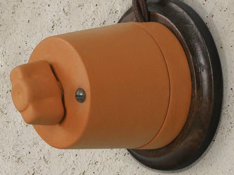 Ceramic electrical socket CASTORE   Electrical socket by Aldo Bernardi