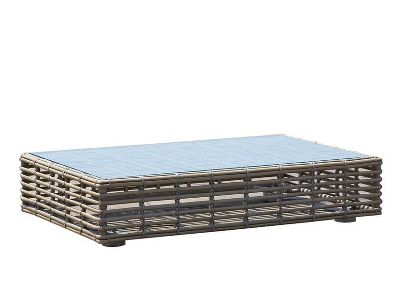 Tavolino basso da giardino per contract CASTRIES 23224 by SKYLINE design