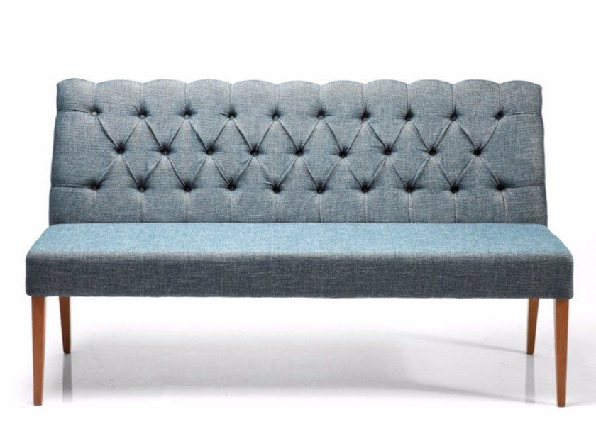 Fabric small sofa CASUAL RHYTHM TEAL by KARE-DESIGN