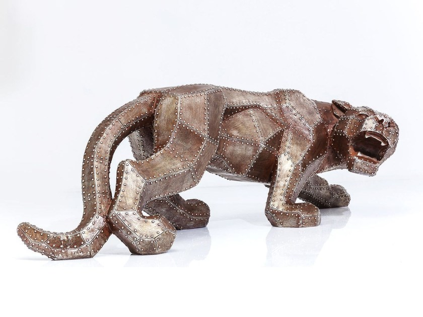 Resin decorative object CAT RIVET COPPER by KARE-DESIGN