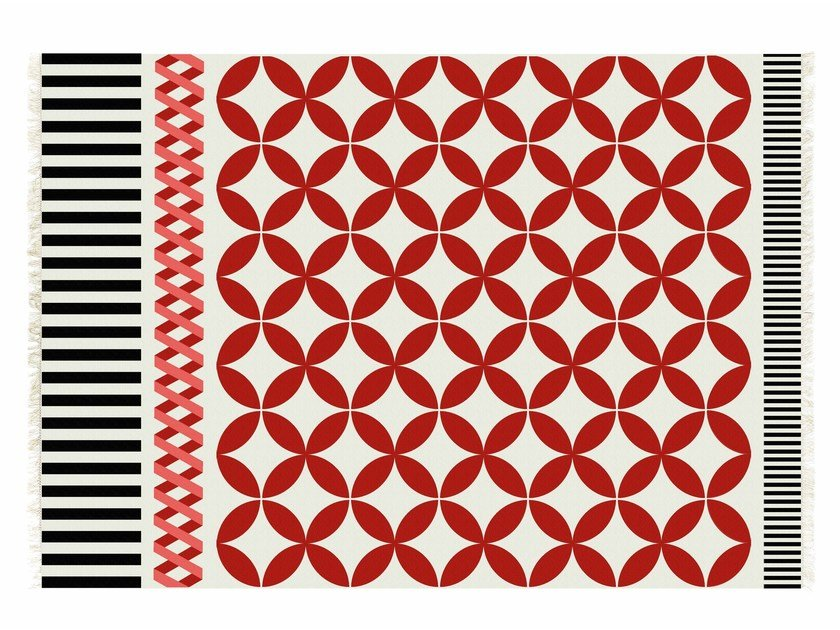 Rectangular wool rug CATANIA by GAN