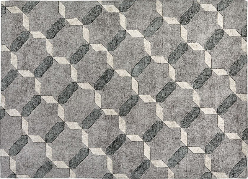 Rectangular silk rug with geometric shapes PENELOPE by Italy Dream Design