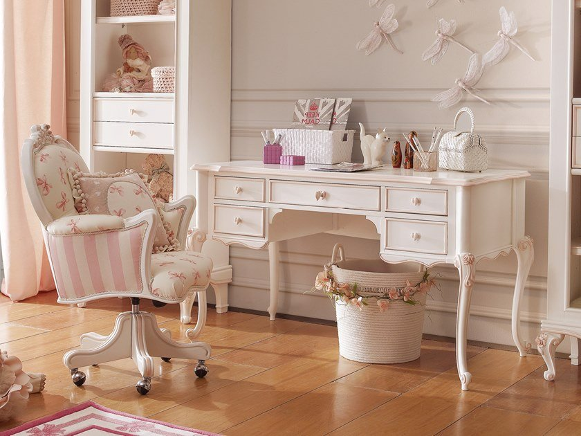 Kids writing desk with drawers CATERINA | Kids writing desk by VOLPI