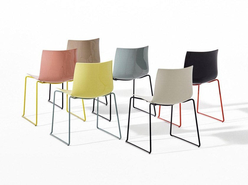 Sled base chair CATIFA 46 - NEW EDITION by arper