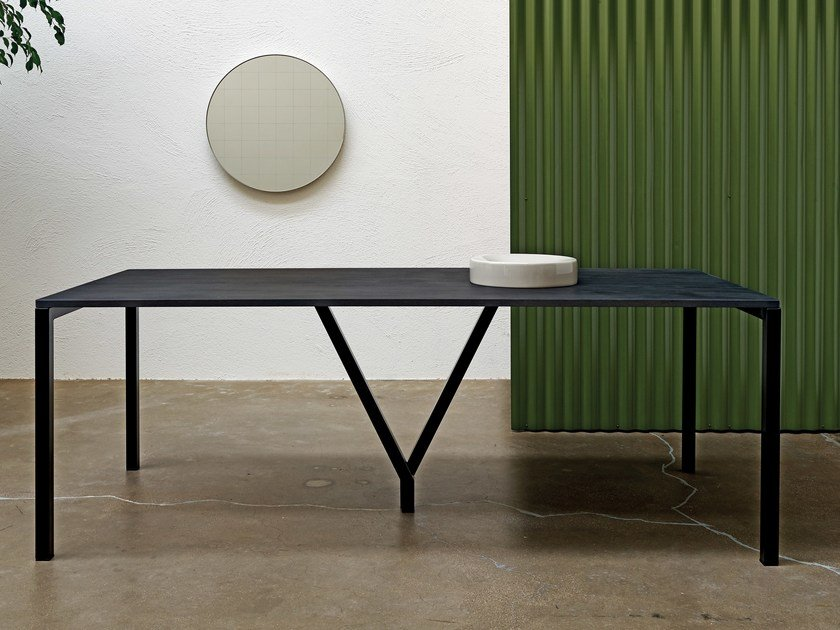 Rectangular oak table CAVALLETTA by Atipico