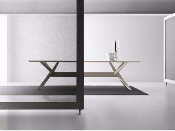 Rectangular wooden table CAVALLETTO | Table by Bauline