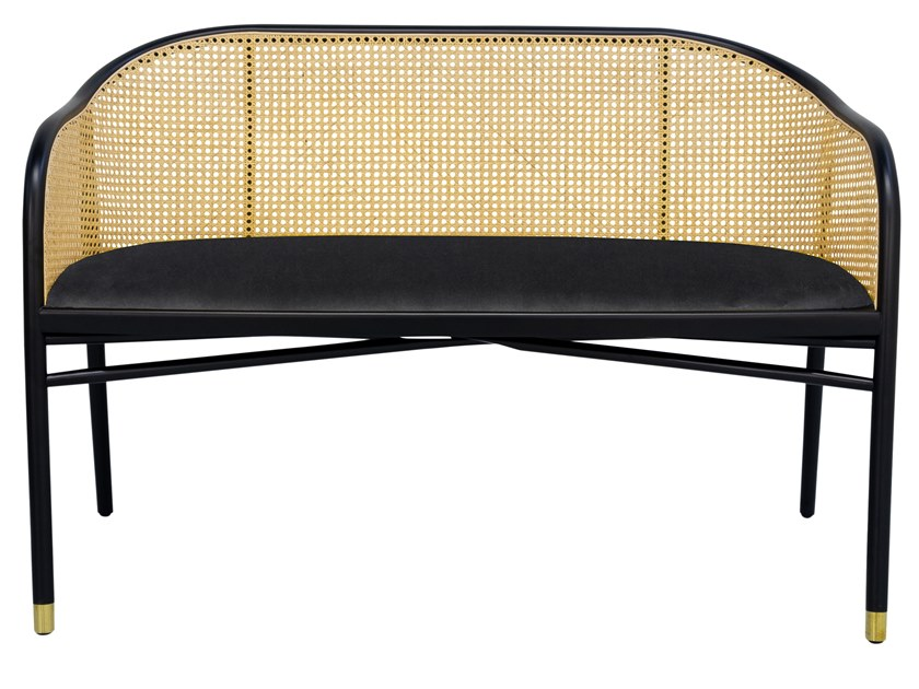Lacquered beech bench with with velvet seat CAVALLO | Velvet bench by The Socialite Family
