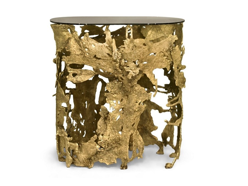 Brass console table CAY | Console table by BRABBU
