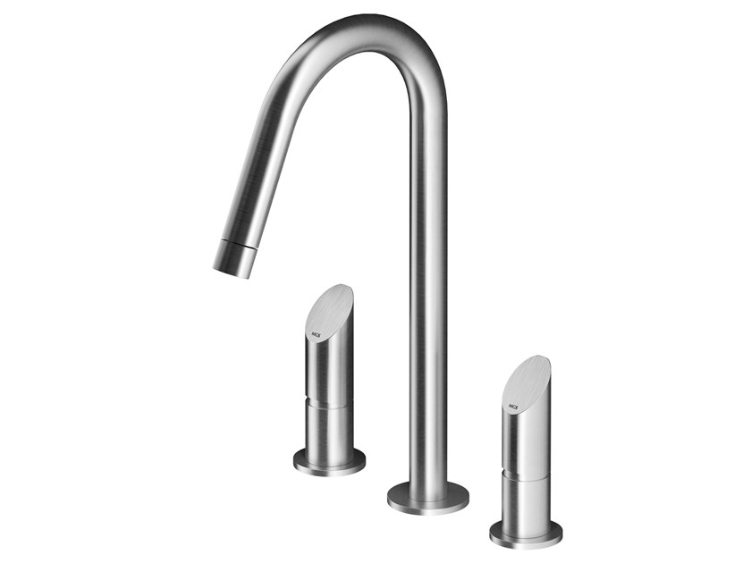 3 hole stainless steel washbasin mixer CB200 | Washbasin mixer by MGS