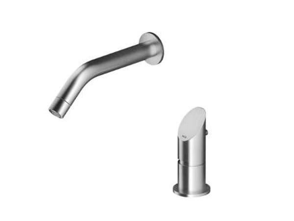 2 hole wall-mounted stainless steel washbasin mixer CB214 | Washbasin mixer by MGS
