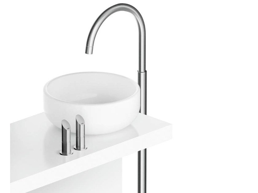 Floor standing stainless steel washbasin mixer CB218 | Washbasin mixer by MGS