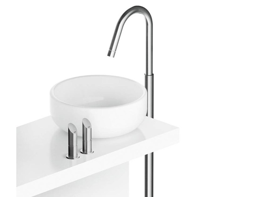 Floor standing stainless steel washbasin tap CB220 | Washbasin mixer by MGS