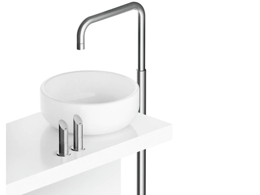 Floor standing stainless steel washbasin mixer CB222   Washbasin mixer by MGS