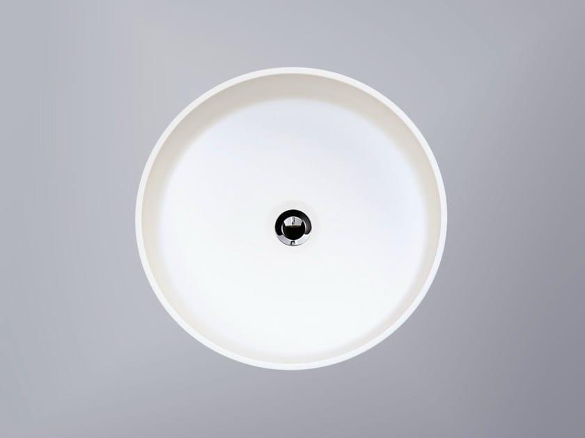 Vasque à poser rond en HI-MACS® CB330C by HI-MACS