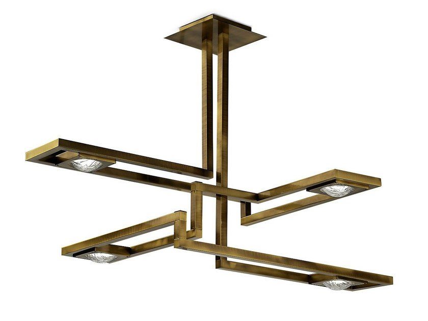 LED brass pendant lamp CECILE | Pendant lamp by MARIONI