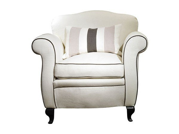 Upholstered fabric armchair CECILIA by SOFTHOUSE