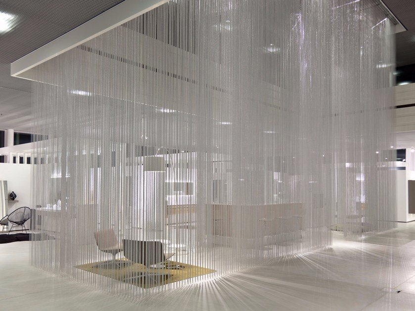 Aluminium chain curtain CEILING RAINY EFFECT by Kriskadecor
