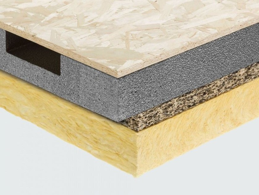Polystyrene thermal insulation panel / sound insulation panel CELENIT LG3/V by celenit