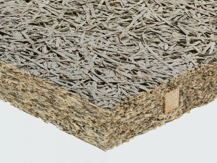 Cement-bonded wood fiber thermal insulation panel / sound insulation panel CELENIT R by celenit