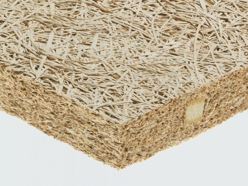 Cement-bonded wood fiber thermal insulation panel / sound insulation panel CELENIT RAB by celenit