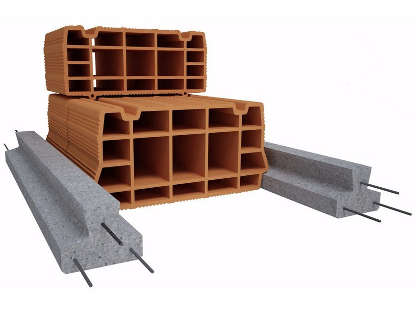 Pre-compressed joist for reinforced concrete floor slab CELERSAP by Fornaci Ioniche