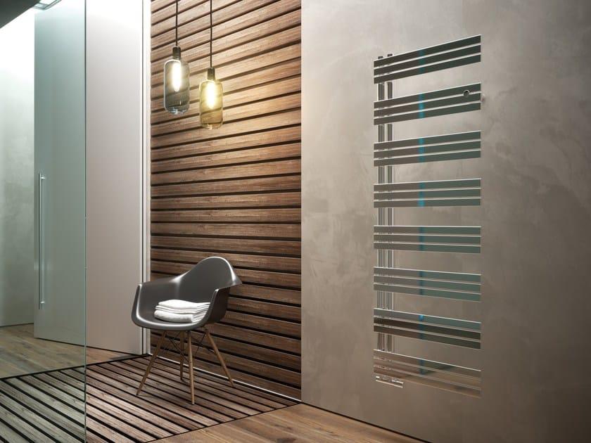 Hot-water vertical stainless steel towel warmer CELINE by CORDIVARI