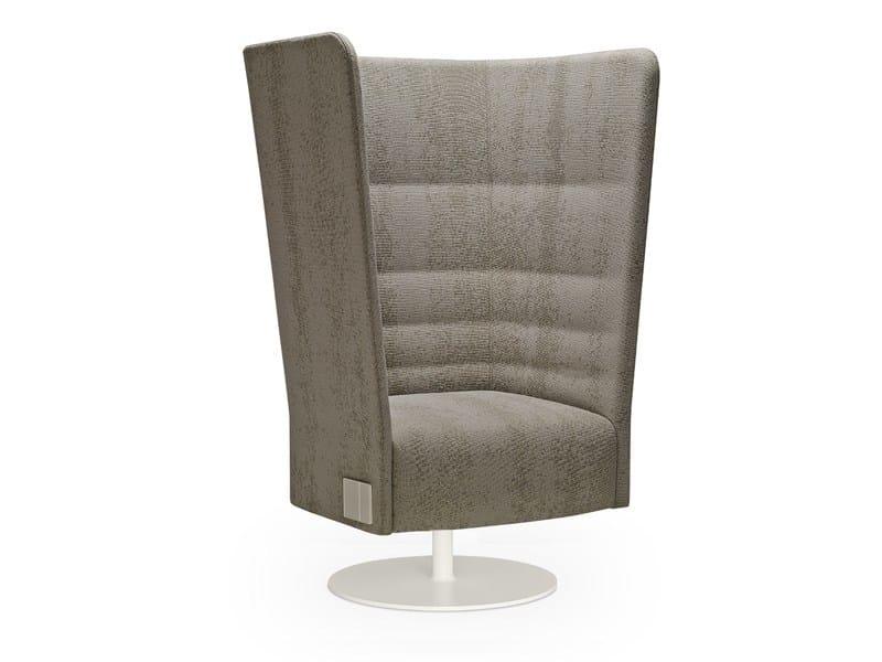 High-back swivel armchair CELL 128 | Swivel armchair by SitLand