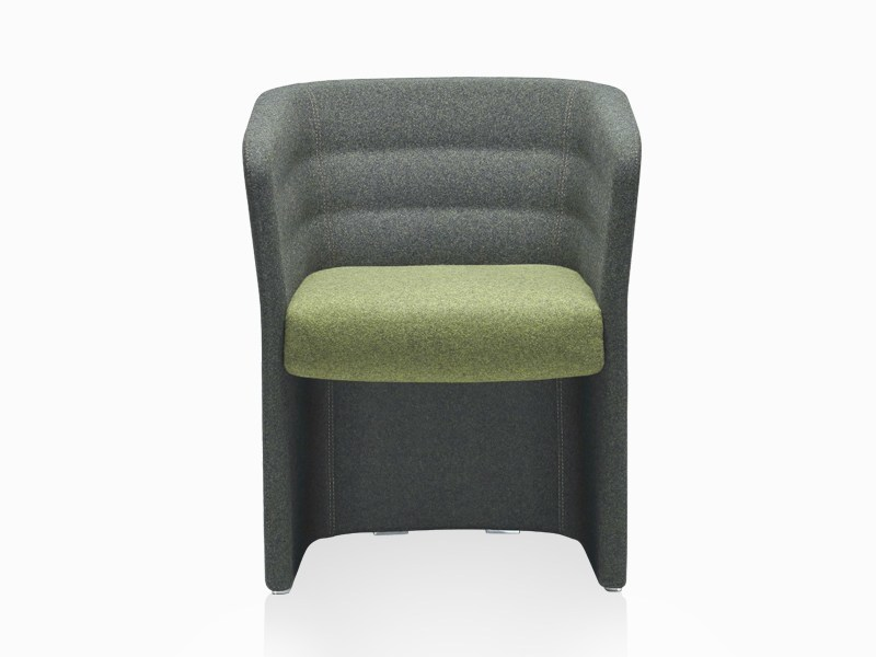 Fabric guest chair with armrests CELL 75 | Easy chair with armrests by SitLand