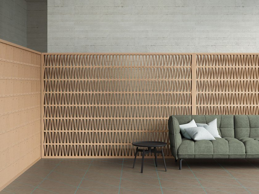 Terracotta element for partition wall CELOSIA by Mutina