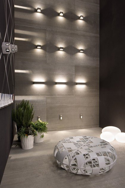 Led cement wall lamp cem w3 cem collection by linea light group