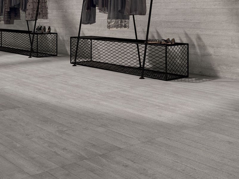 Laminated stoneware wall/floor tiles with concrete effect CEMENT PROJECT - COLOR-20 WORK by COTTO D'ESTE