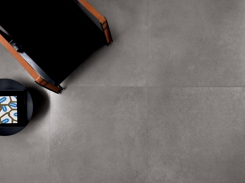 Antibacterial antibacterial anti-slip laminated stoneware wall/floor tiles CEMENT PROJECT - COLOR-30 LAND by COTTO D'ESTE