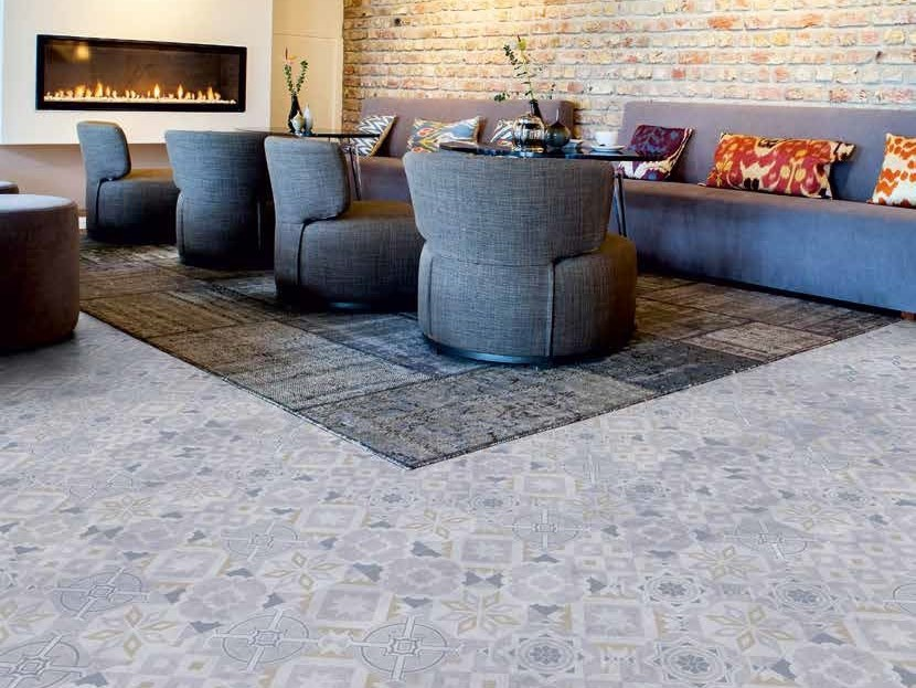 Flooring with encaustic effect CEMENTI CLICK | Flooring with encaustic effect by TARKETT