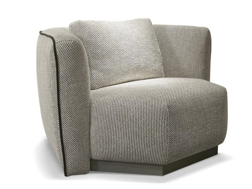 Fabric armchair with armrests CEMENTINA | Armchair by SOFTHOUSE