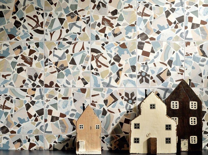 Wand und bodenbelag aus feinsteinzeug cementine cocci colors