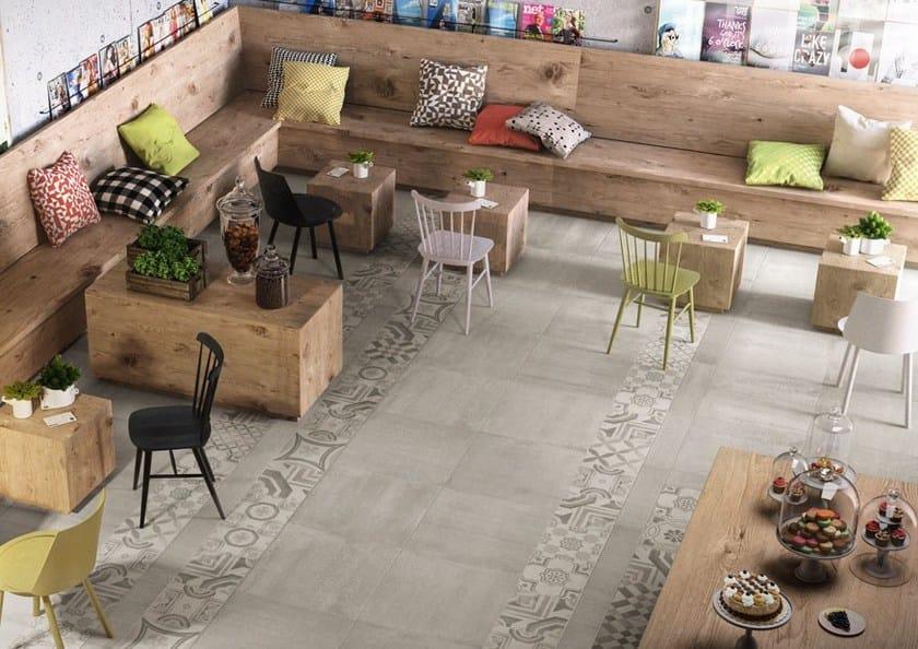 Pavimento in gres porcellanato cementine cold ceramiche keope