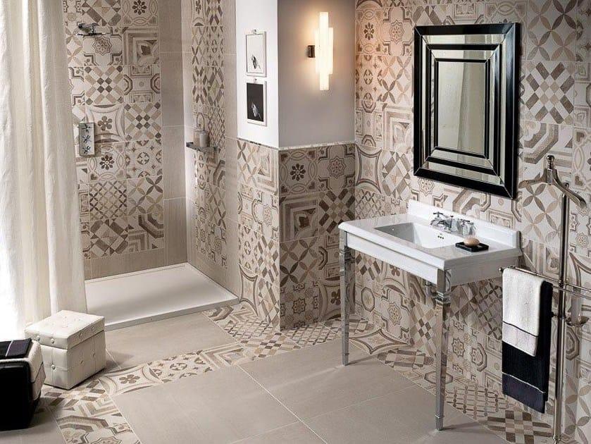Wand und bodenbelag aus feinsteinzeug cementine warm by ceramiche keope