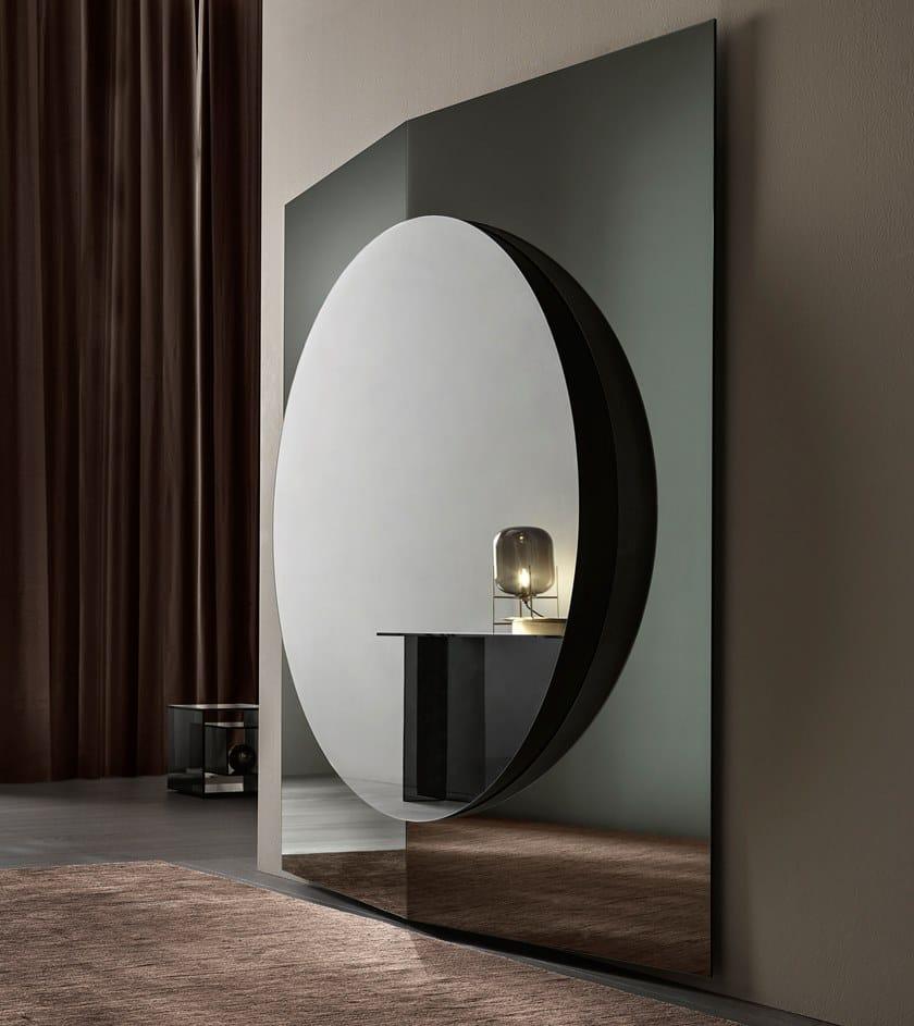 Pareti A Specchio Design specchio quadrato da parete central - tonelli design
